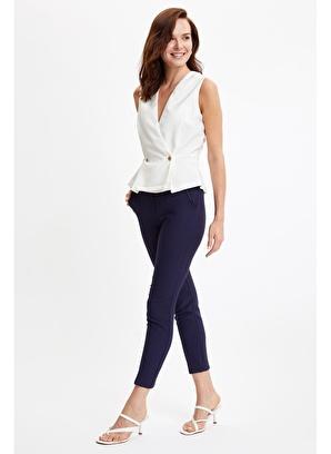 DeFacto Wıd Leg Düğme Detaylı Dokuma Pantolon